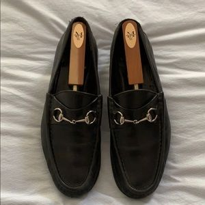 Black Gucci Loafers - size 11